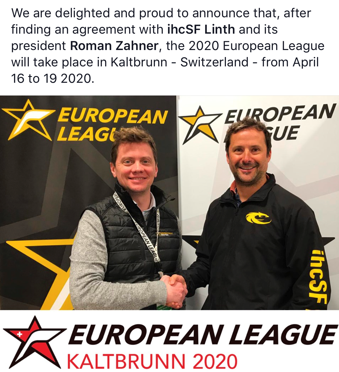 European League 2020 kommt nach Kaltbrunn